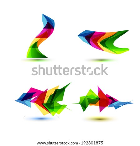 Business Design elements ( icon ) set for print and web. Vector. - stock vector