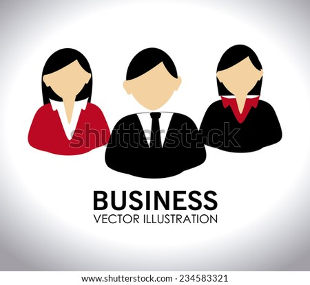Business design over white background, vector illustration