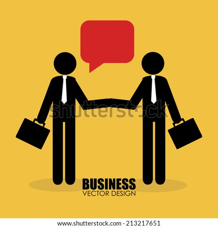 Business design over yellow background, vector illustration