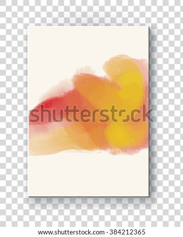 Business design templates. Brochure with Color Paint Backgrounds. Abstract Modern Vector Illustration. - stock vector