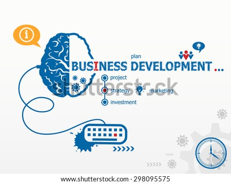 Business Development design illustration concepts for business, consulting, finance, management, career.   - stock vector