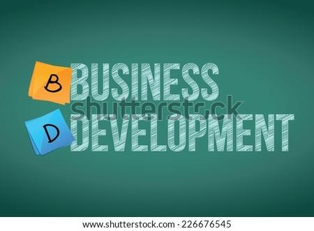 business development post illustration design over a chalkboard background - stock vector