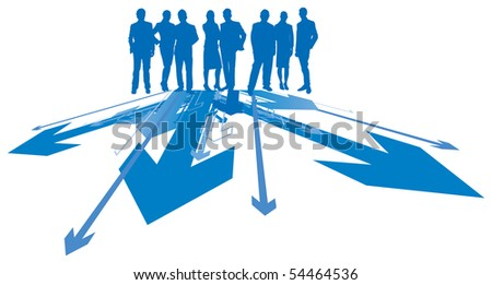 business directions - stock vector