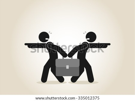 Business Disagreement Argue Conflict Negotiations - stock vector