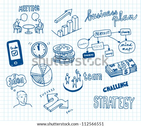 Business Doodles - stock vector