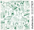 Business doodles collection - stock