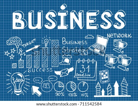 Business doodles sketch set infographics elements stock vector 2018 business doodles sketch set of infographics elements it include symbols of graphs stats malvernweather Images