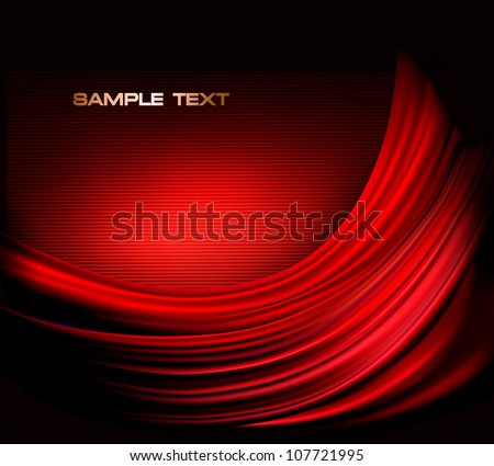Business elegant red abstract background. Vector illustration - stock vector