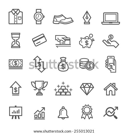Business element icons. Vector illustration - stock vector