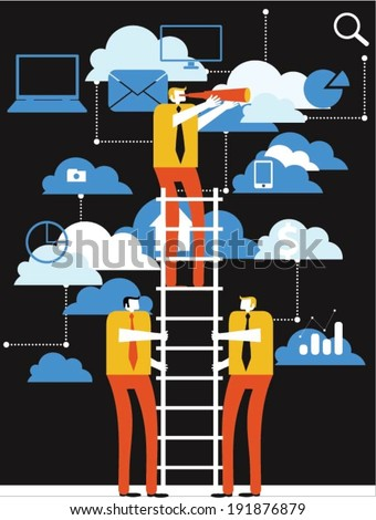 Business exploration - stock vector