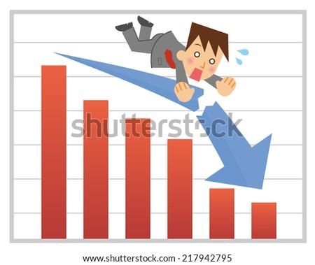 Business failure - stock vector