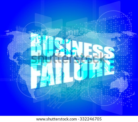 business failure on digital touch screen vector illustration - stock vector