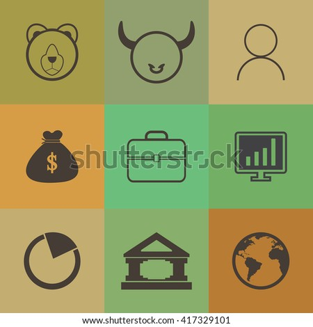 Business finance and money icon.Retro color
