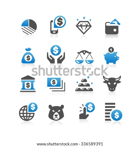 Business finance concept icon set - Flat Series - stock vector