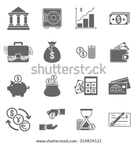 Business Finance Icons - stock vector