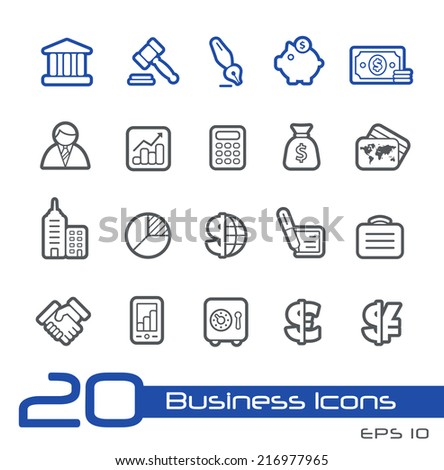 Business & Finance Icons // Line Series - stock vector