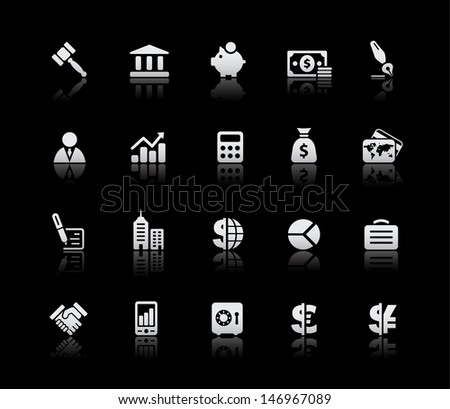 Business & Finance Icons // Silver Series  - stock vector