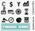 Business finance icons,vector - stock vector
