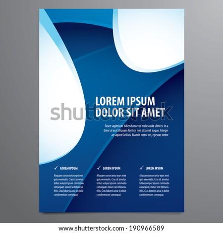 business flyer, brochure vector template - stock vector
