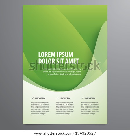 business flyer, brochure vector template - stock vector