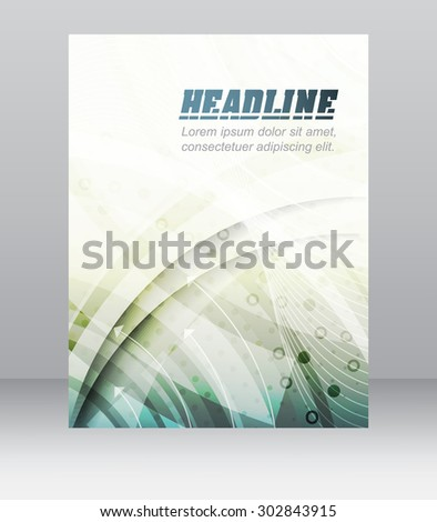 Business flyer template, brochure, cover design, folder or corporate banner with technological structure/paper banner with space for your content or creative editing/ vector illustration - stock vector