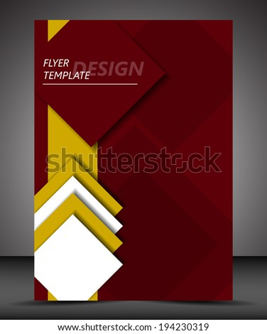 Business flyer template or corporate banner, brochure/design for print, publishing or presentation with place for your content - stock vector