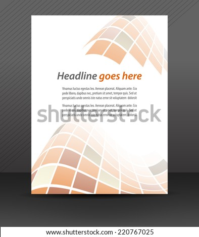 Business flyer template or corporate banner, cover design/design for print, publishing or working presentation with place for your content or creative editing/vector illustration  - stock vector