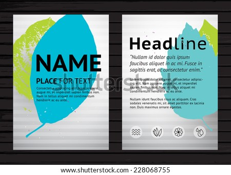 Grunge Two Side Flyer Template Vector Vector 228068722 – Sample Flyer Templates