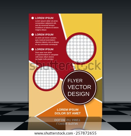 Business flyer vector design. Brochure cover template. - stock vector