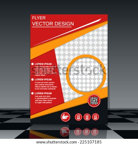 Business flyer vector template. Abstract cover design. - stock vector