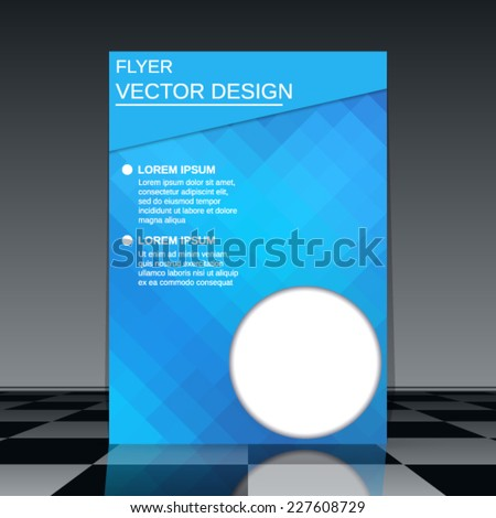 Business flyer vector template. Abstract cover design.