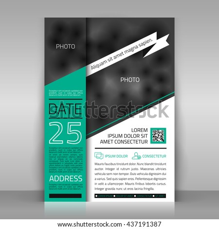 Business flyer white ribbon paper sheet stock vector 437191387 business flyer with white ribbon paper sheet on gray background poster invitation stopboris Image collections