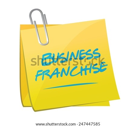 business franchise memo post illustration design over a white background - stock vector