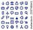 Business Free Hand Sketched Icons, Outlines - stock vector