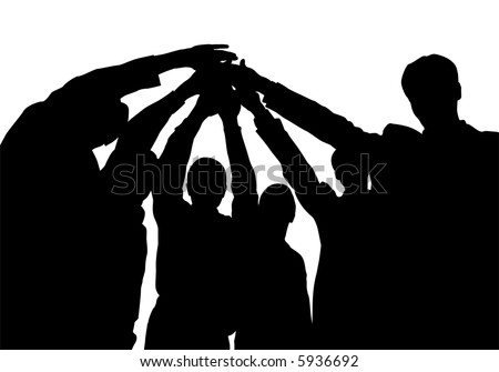 business friends with hands vector - stock vector