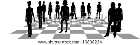 Business Game - stock vector