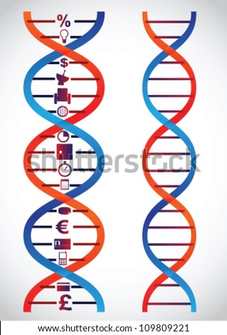 Business gene - stock vector