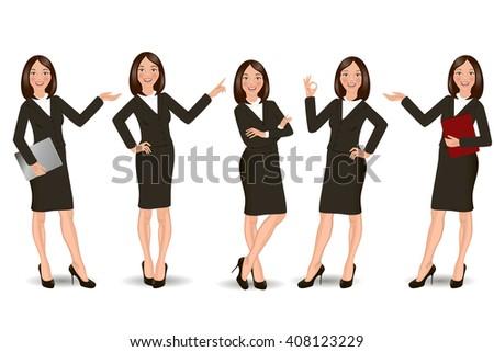 Business Girl - stock vector