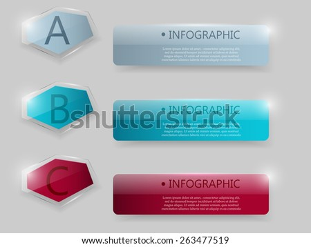 Business glass Infographic. Vector illustration.  - stock vector