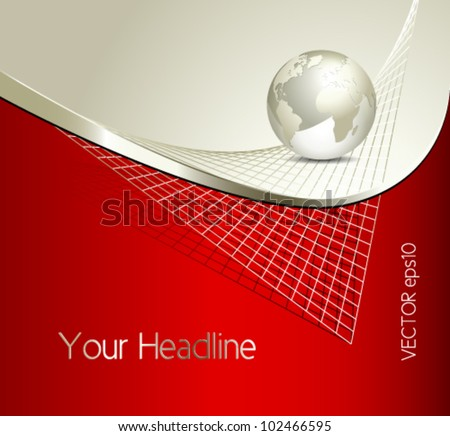 Business globe background - global network design - stock vector