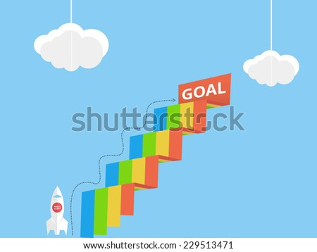 Business goal - stock vector