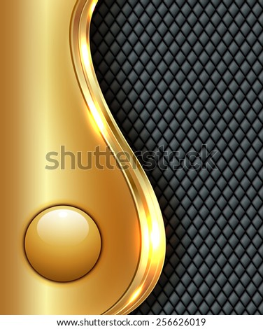 Business gold background, vector illustration. - stock vector