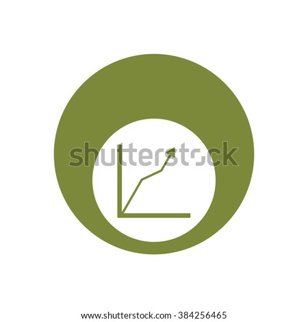 Business graph and chart icon, vector illustration.  Flat design style. - stock vector