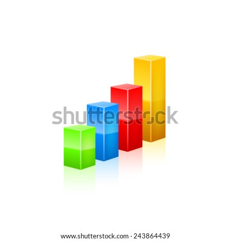 Business graph icon. Vector