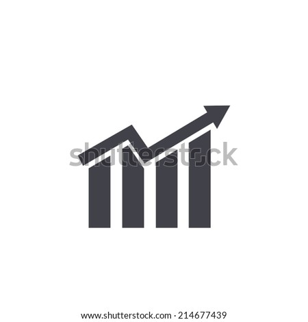 business graph icon , vector illustration - stock vector