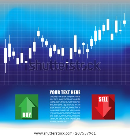Business graph in the form forex chart - stock vector