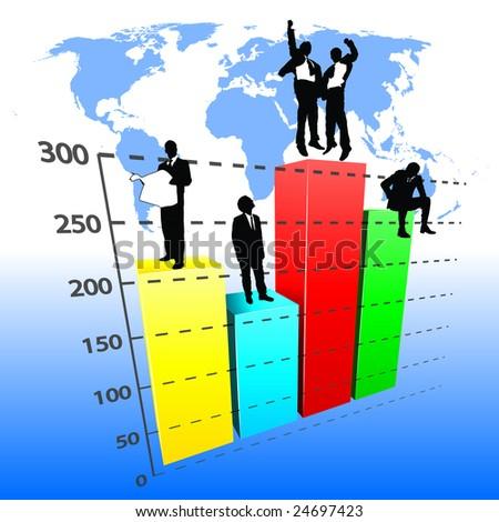 business graph vector - stock vector