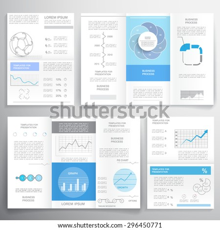 Business graphics brochures - stock vector