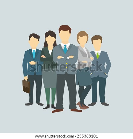 Business group director chief boss. The company staff - stock vector