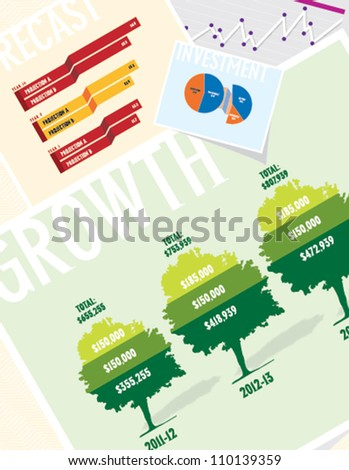 Business Growth Chart - stock vector